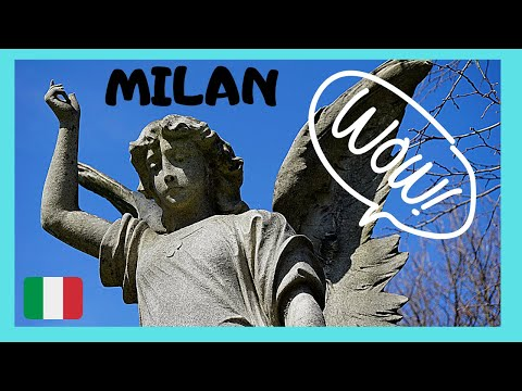 MILAN, incredible ART and SCULPTURES at CIMITERO (CEMETERY) MONUMENTALE (ITALY)