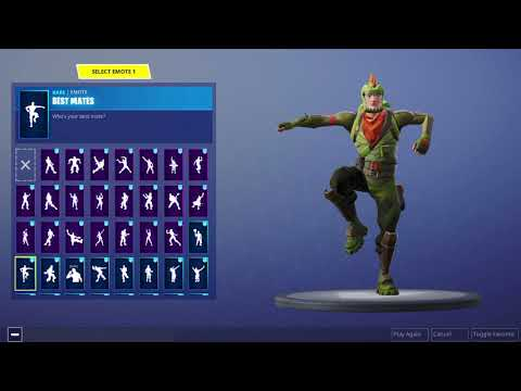 102 FORTNITE DANCES/EMOTES WITH THE REX SKIN!