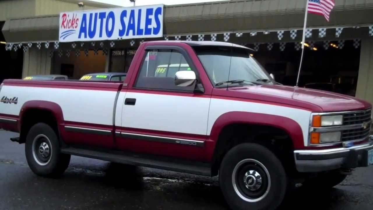 Ricks Auto Sales >> 1991 CHEVY 2500 SOLD!! - YouTube