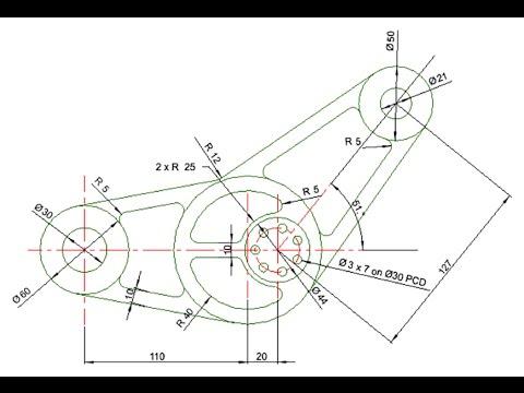 Auto CAD - 2D Design - YouTube