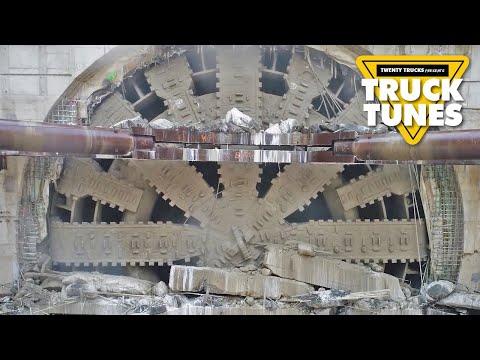 Tunnel Boring Machine for Children   Truck Tunes for Kids   Twenty Trucks Channel   Big Bertha