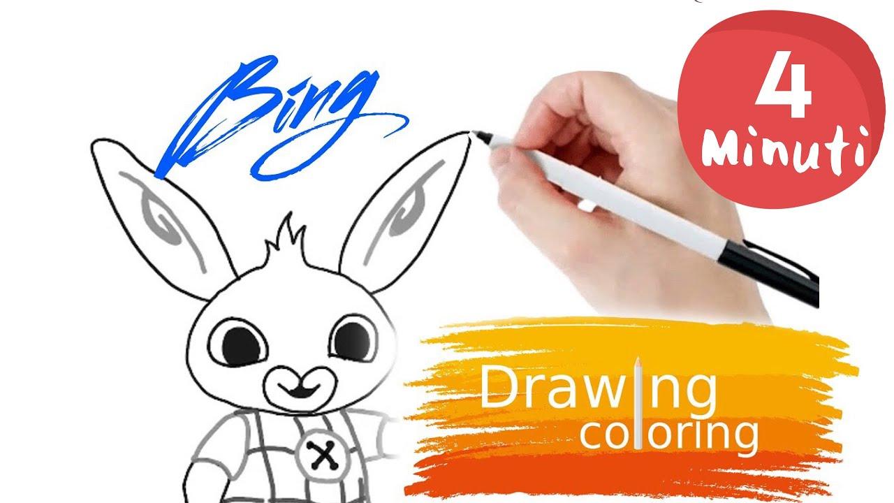 Coloriamo Il Coniglietto Bing Youtube