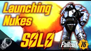 Launching Nukes SOLO In Fallout 76 (Easy Nuke Launch Method)