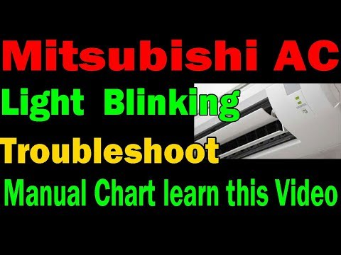Mitsubishi split ac light blinking troubleshoot find out with manual chart learn in Hindi