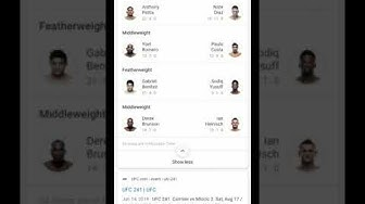 UFC 241 Fight Card