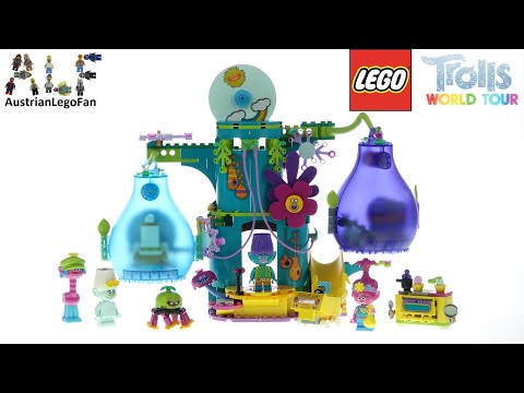 LEGO Trolls World Tour 41255 Pop Village Celebration - Lego Speed Build Review