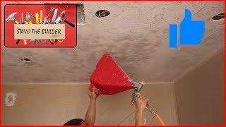 Como remover  Popcorn de un techo y aplicar o poner textura Knock down