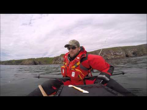 UK Kayak Fishing Cove Bay Aberdeen 11 06 15