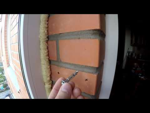 Как крепить окно в пустотелый кирпич