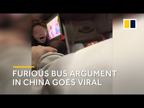 Furious bus argument in China goes viral