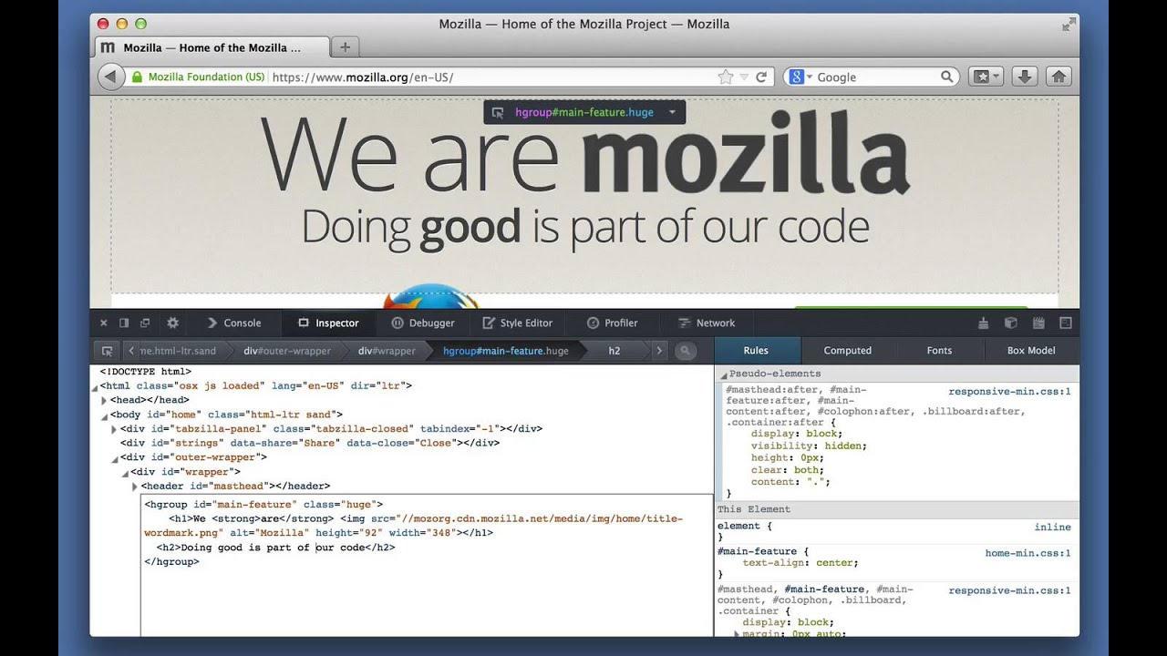 Edit As HTML - Firefox Developer Tools