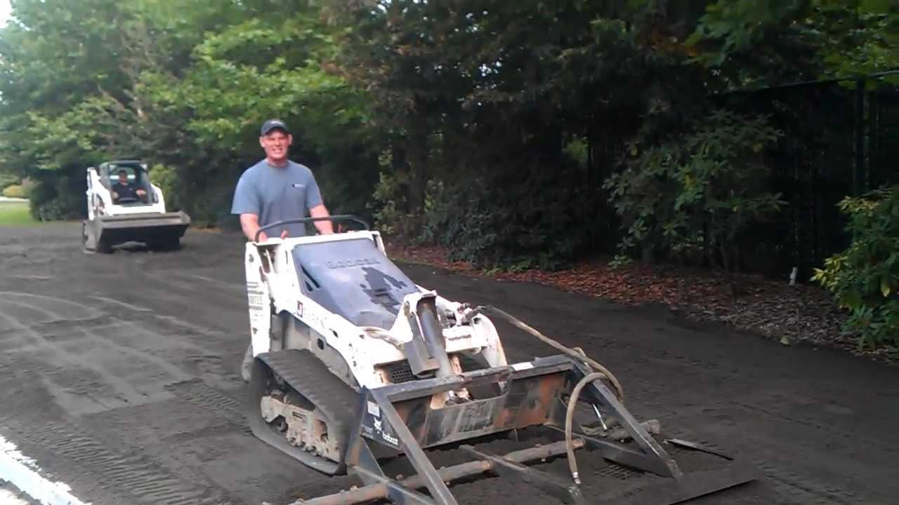 Crazy Landscaper Uses Bobcat Mt55 Youtube