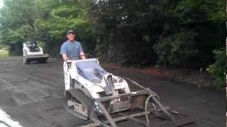 Crazy landscaper uses Bobcat MT55