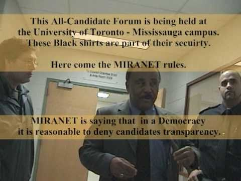Fascist Mississauga Debate By MIRANET At UofT