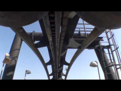 Flight Deck Top Gun Roller Coaster POV California's Great America