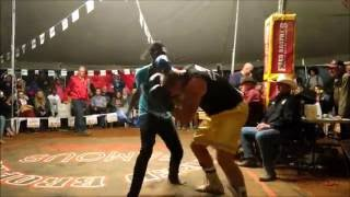 Cole Wilson fights 2 men tag-team  - Outback Fight Club - Mt Isa 2015 -