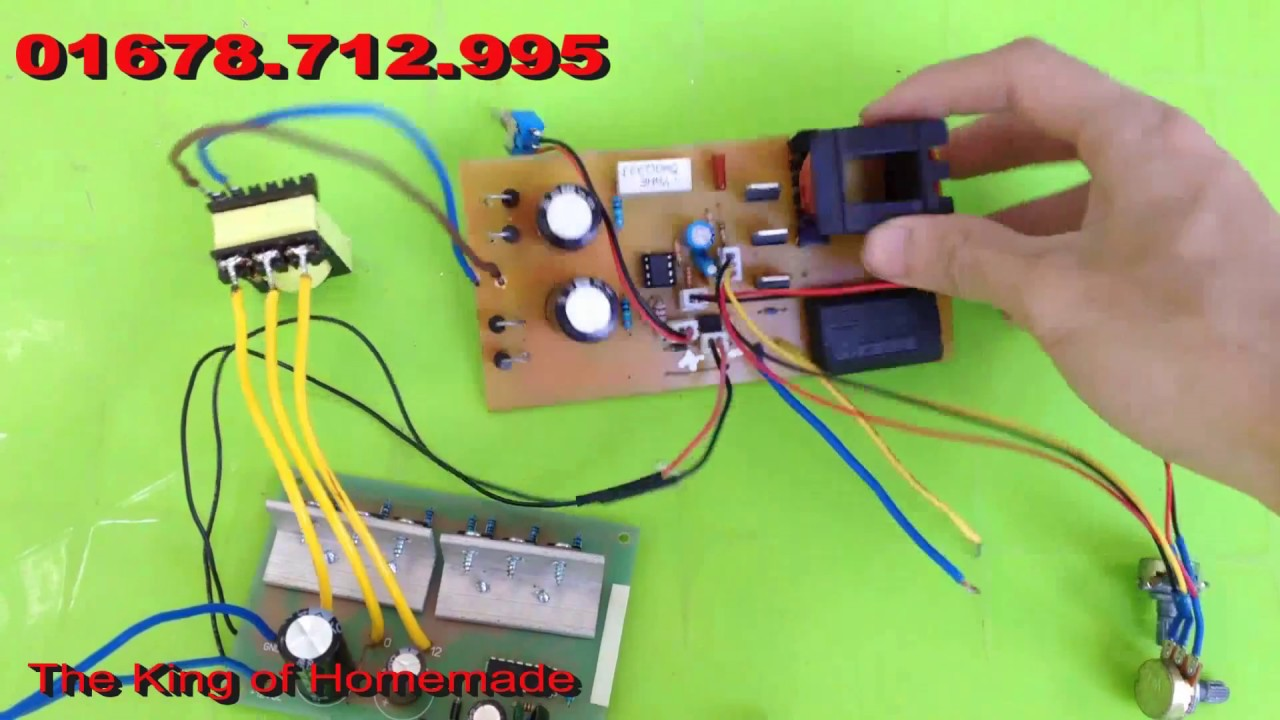 Homemade Electric Stun Fish Circuit
