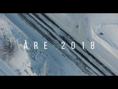 Drone shots of skiing in Åre, Sweden - 2018