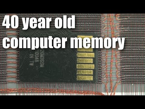 Magnetic core memory from 40 years ago