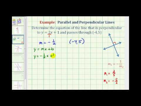 Ex 1 Find The Equation Of A Line Perpendicular To A Given Line Passing Through A Given Point Youtube