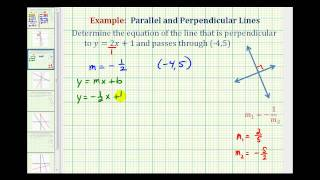 Ex 1:  Find the Equation of a Line Perpendicular to a Given Line Passing Through a Given Point