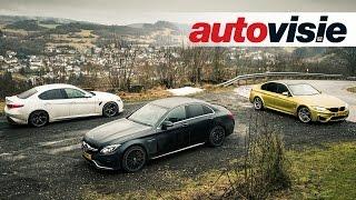 Autovisie TV: BMW M3 versus Mercedes-AMG C 63 S versus Alfa Romeo Giulia Q