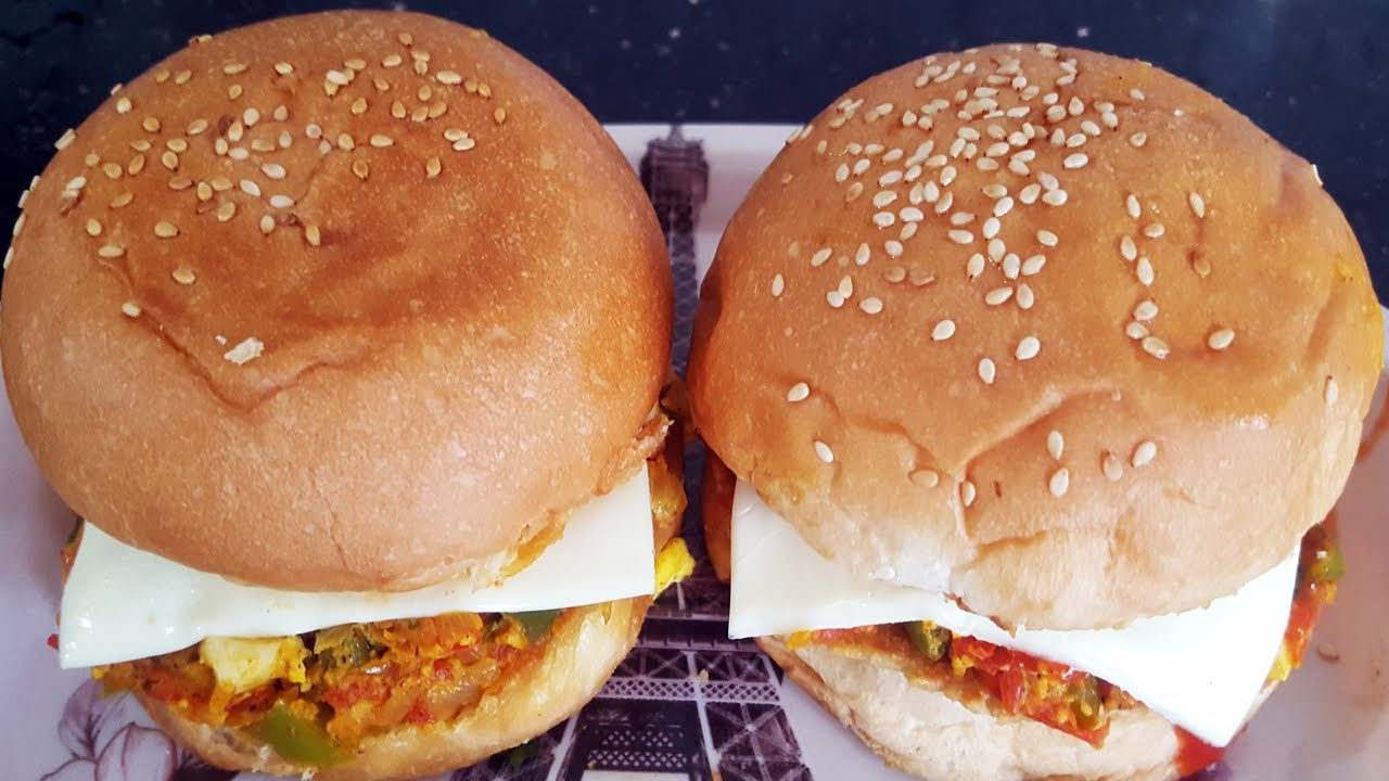 Homemade egg burger recipe | Egg burger bun recipe