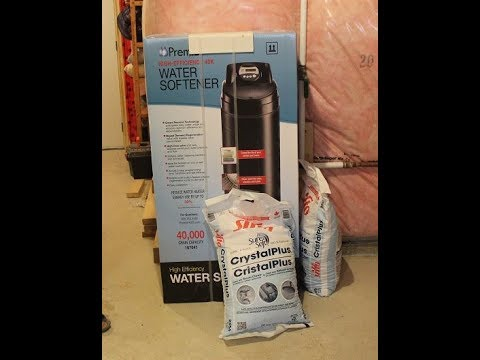 Water Softening System Installation Premier Water Softener 40000 Grain Youtube