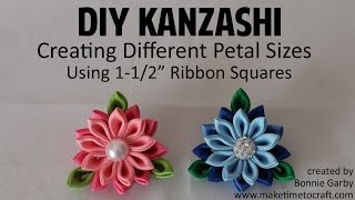DIY Kanzashi - How To Create Different Sized Petals With Really Reasonable Ribbon