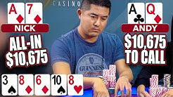 $10,675 River SHOVE with Ace-high! ♠ Live at the Bike!
