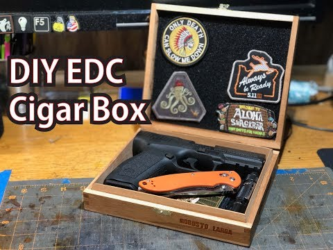 DIY EDC Pocket Dump Cigar Box with Suede and Velcro