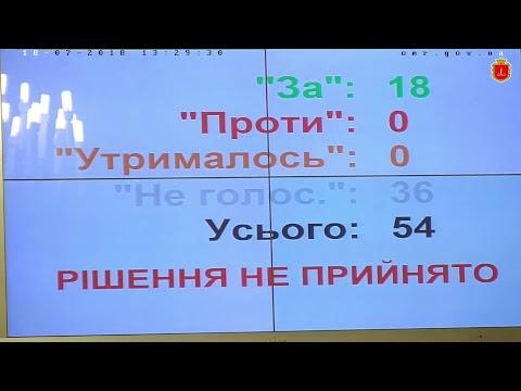 видео: xХvii сессия Одесского городского совета vІІ созыва 18 июля 2018 г.