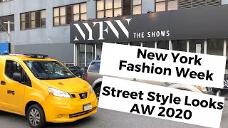 New York Fashion Week 🗽 Street Style Looks AW 2020