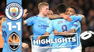 HIGHLIGHTS | MAN CITY 1-1 SHAKHTAR | GUNDOGAN REACTION