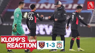 Klopp's Reaction: Milner celebrations, formation change & goal reactions | West Ham vs Liverpool
