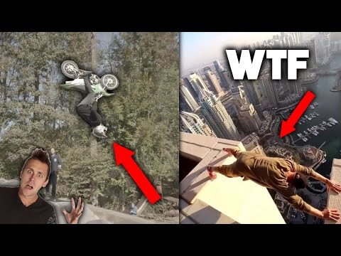 TOP 5 CRAZIEST STUNTS DONE FOR YOUTUBE! ( Roman Atwood, Travis Pastrana )