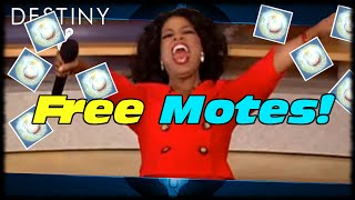 How To Get Free Motes Of Light To Easily Level Up Factions! Destiny Free Motes Of Light Easy!