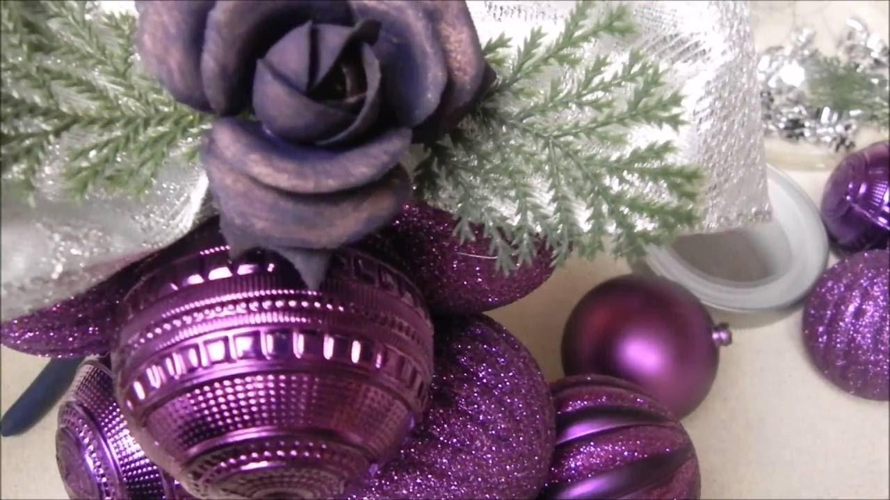 Diy manualidades para navidad idea de decoracion con for Adornos con plantas de nochebuena