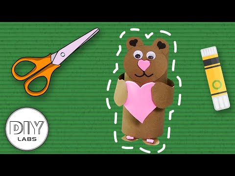 LOVE BEAR 🐻💕 Paper Roll Craft | Fast-n-Easy | DIY Arts & Crafts for Parents