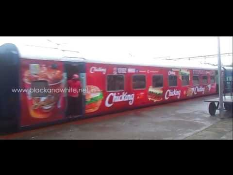 Chicking Train Exterior Advertising