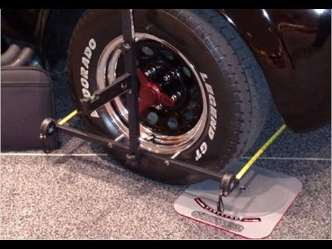 How To Align Your Car At Home.  Portable Alignment System From Eastwood.