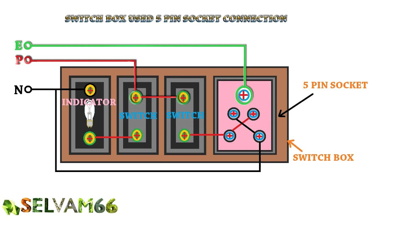 5 Pin Socket Wiring Diagram Custom Wire Relay How To Connection Switch Box Use Rh Youtube Com Trailer Cdi
