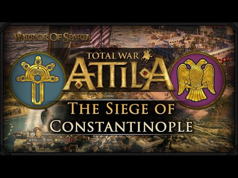 Total War: Attila - Gameplay ~ The Siege of Constantinople! (Eastern Roman Empire vs The Ostrogoths)