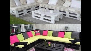 Canapea de gradina din europaleti,,How to build a pallet sofa for the garden
