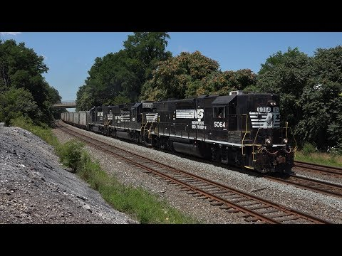 Trains on the Norfolk Southern Harrisburg Line Summer 2016