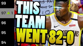 I FINALLY DID IT! DOING THE IMPOSSIBLE! 82-0 Rebuilding Challenge | NBA 2K21