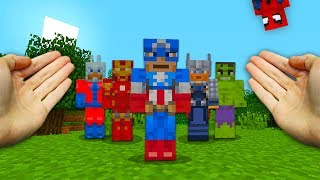 REALISTIC MINECRAFT - STEVE MEETS THE AVENGERS!