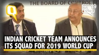 Indian Cricket Team Announces its Squad for 2019 World Cup