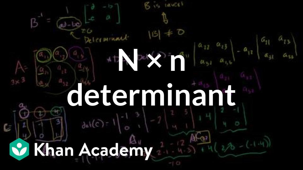 n x n determinant (video) | Khan Academy