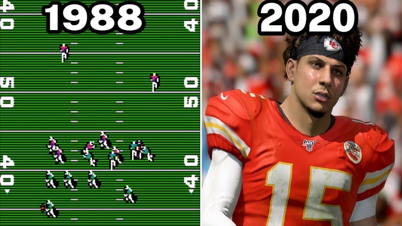 e9416dfa Graphical Evolution of Madden NFL (1988-2020)